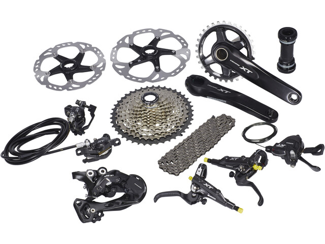 Shimano Deore XT 8000 Component Group 1x11 groupset silver